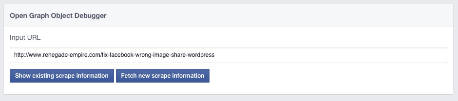 Facebook Object Debug
