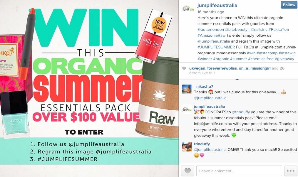 Jumplife Successful Instagram Competition